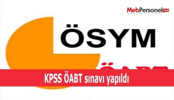 KPSS ÖABT sınavı yapıldı