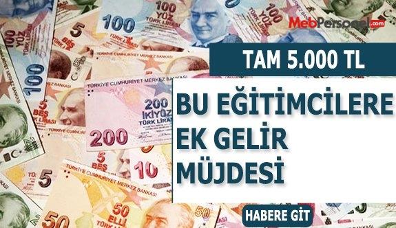 Öğretim elemanları 5 bin 600 lira ek gelir