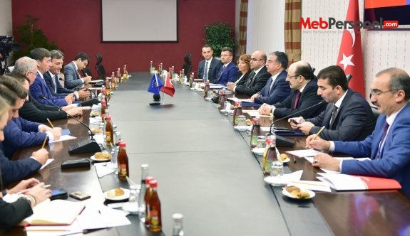 Bakan Yılmaz, Kosova Eğitim Bakanı Bajrami ile bir araya geldi