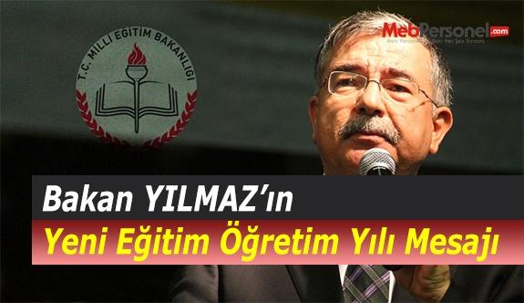 Bakan YILMAZ'ın Yeni Eğitim Öğretim Yılı Mesajı