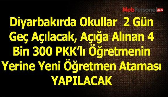 Diyarbakır'da okullar iki gün geç açılacak