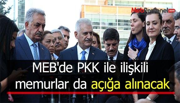 MEB'de PKK ile ilişkili memurlar da açığa alınacak