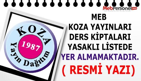 MEB: Koza Yayınları Yasaklı Listede Yer Almamaktadır( Resmi Açıklama)