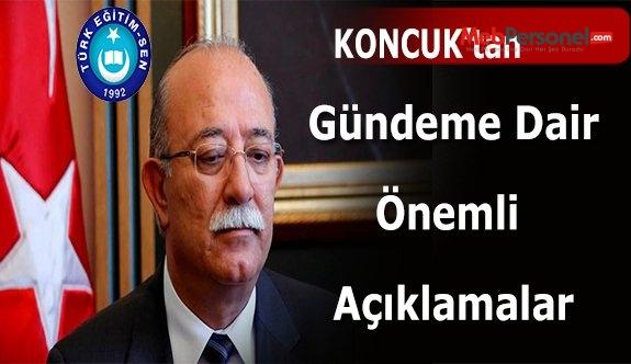 Türk Eğitim Sen Genel Başkanı'ndan Açıklamalar