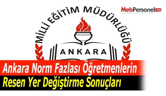 Ankara Norm Fazlası Öğretmenlerin Resen Yer Değiştirme Sonuçları