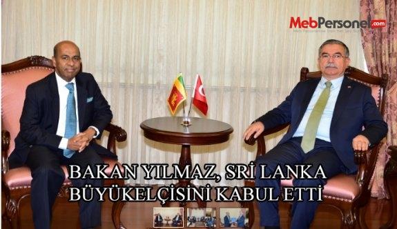 Bakan Yılmaz, Sri Lanka Büyükelçisi Amza'yı kabul etti