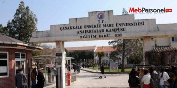 Çanakkale'de ÇOMÜ'de 52 idari personelin kurum ile ilişiği kesildi