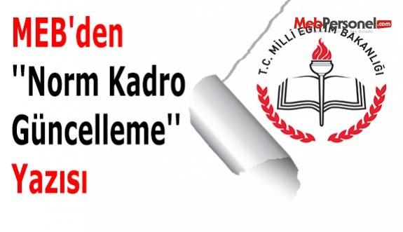 MEB'den ''Norm Kadro Güncelleme'' Yazısı