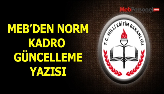 MEB'den Norm Kadro Güncelleme Yazısı