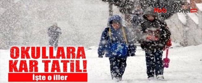 Okullara Kar Tatili Olan İller (MEB 2016-2017)