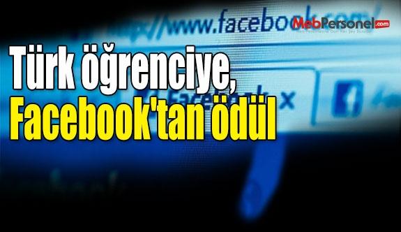 Türk öğrenciye, Facebook'tan ödül