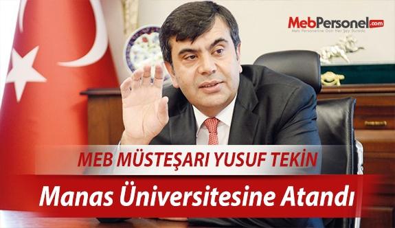 Yusuf Tekin, Manas Üniversitesine atandı