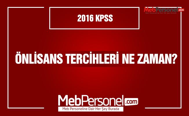 2016 KPSS Önlisans Tercihleri Ne Zaman?