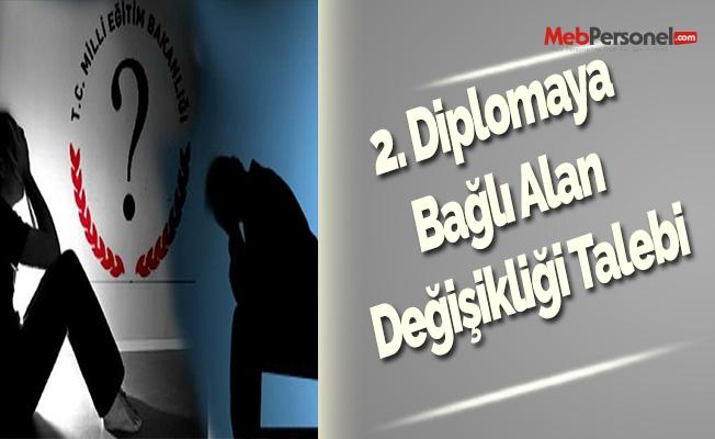 2. Diplomaya Bağlı Alan Değişikliği Talebi