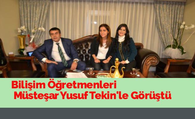 Bilişim Öğretmenleri Müsteşar Yusuf Tekin'le Görüştü