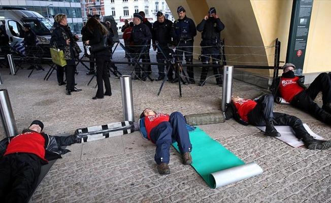Brüksel'de 50 protestocu için olağanüstü güvenlik önlemi