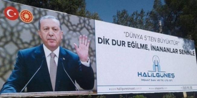 Erdoğanlı billboard reklamı yapan müteahhit FETÖ'den tutuklandı