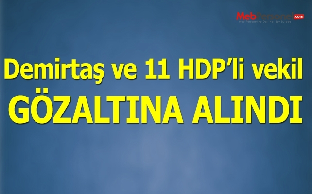Flaş! Demirtaş ve 11 HDP'li vekil gözaltına alındı