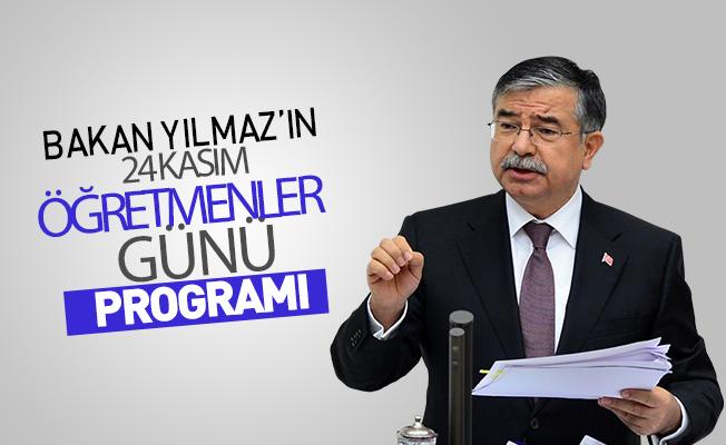 Milli Eğitim Bakanı Yılmaz'ın Öğretmenler Günü Programı