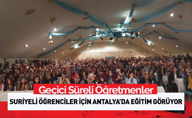 Öğretmenler Suriyeli çocuklara Türkçe öğretecek