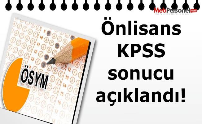 Önlisans KPSS sonucu açıklandı!