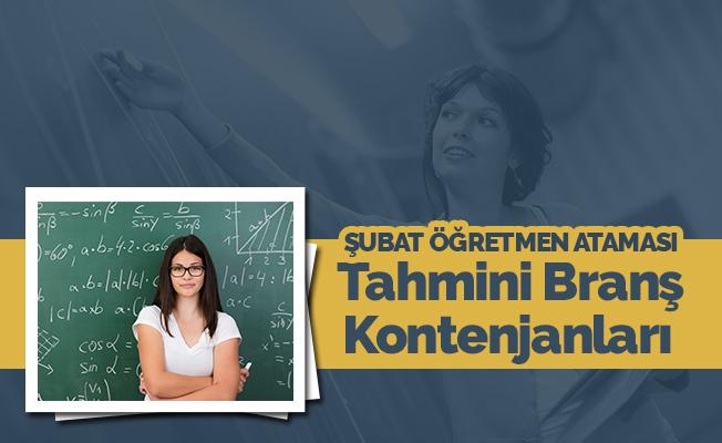 Sözleşmeli Öğretmen Atamaları  Tahmini Branş Kontenjanları