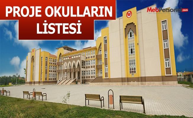 Türkiye'deki Proje Okullarının Listesi