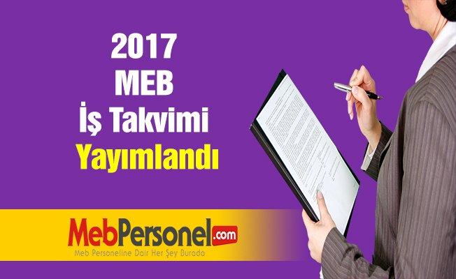 2017 MEB İş Takvimi Yayımlandı
