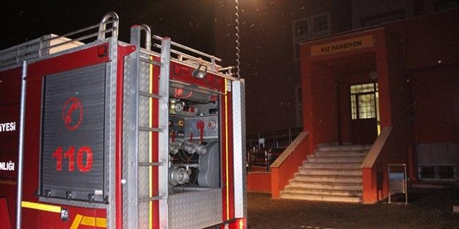 Konya'da lise öğrencilerinin kaldığı pansiyonunda yangın