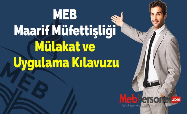 MEB Maarif Müfettişliği Mülakat ve Uygulama Kılavuzu