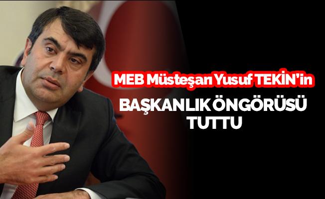 MEB Müsteşarının Başkanlık Öngörüsü Tuttu