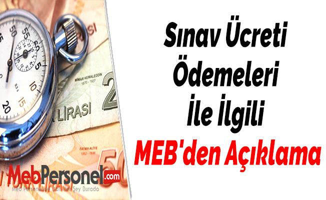 Sınav Ücreti Ödemeleri İle İlgili MEB'den Açıklama