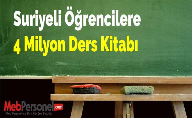Suriyeli Öğrencilere 4 Milyon Ders Kitabı
