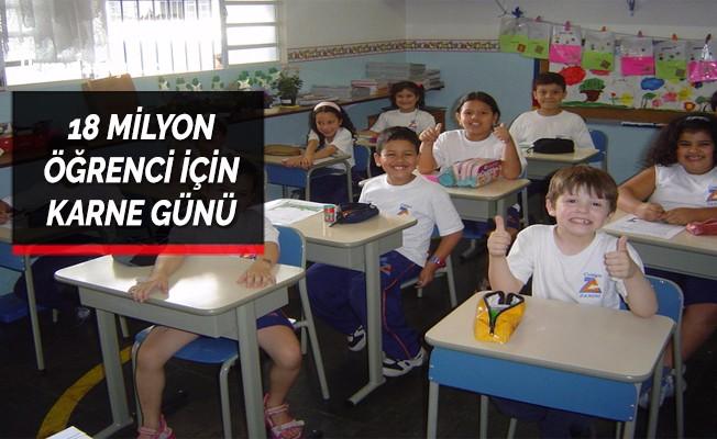 18 milyon öğrenci için karne günü