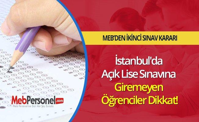 İstanbul'da Açık Lise Sınavına Giremeyen Öğrenciler Dikkat!