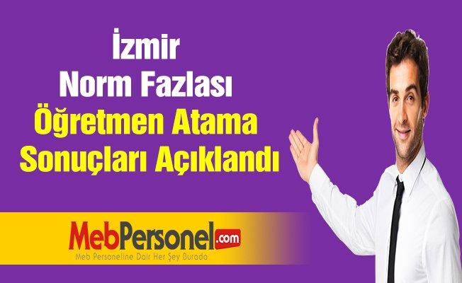 İzmir Norm Fazlası Öğretmen Atama Sonuçları Açıklandı