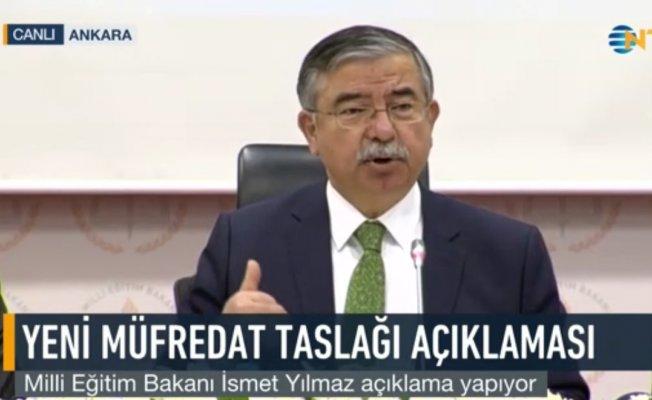 Milli Eğitim Bakanı Yenilenmiş Eğitim Programı Toplantısında Konuştu