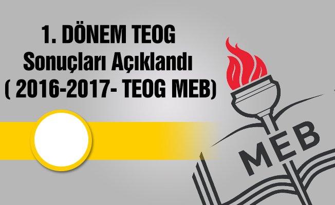 TEOG Sonuçları Açıklandı ( 2016-2017- TEOG MEB)