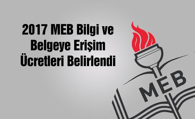 MEB Bilgi ve Belgeye Erişim Ücretlerini Belirledi