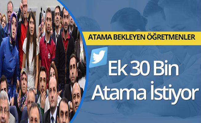 Öğretmenler Ek 30 Bin  Atama İstiyor