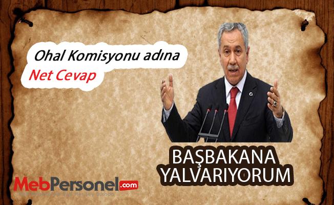 """Eski Başbakan Yardımcısı Bülent Arınç: """"OHAL komisyonu için Başbakana yalvarıyorum"""""""