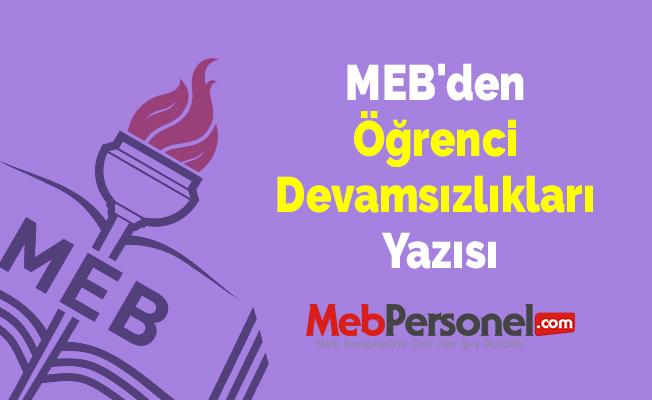 MEB'den Öğrenci Devamsızlıkları Yazısı