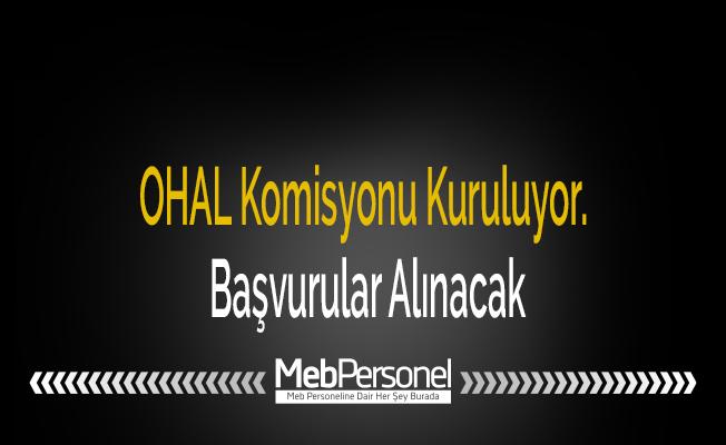 OHAL Komisyonu Kuruluyor. Başvurular Alınacak
