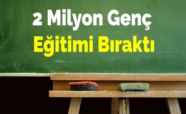 2 Milyon Genç Eğitimi Bıraktı