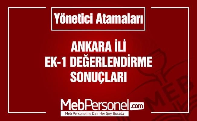 Ankara Yönetici Atama Ek-1 Değerlendirme Sonuçları Açıklandı