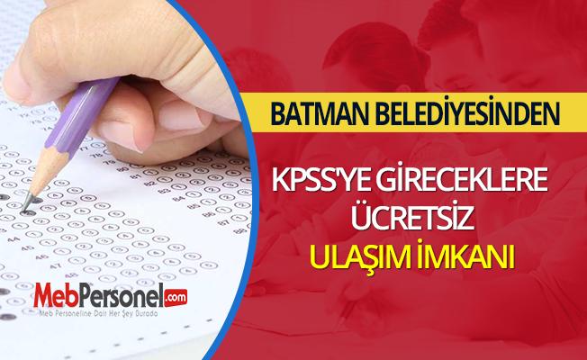 Batman Belediyesinden KPSS'ye gireceklere ücretsiz ulaşım imkanı