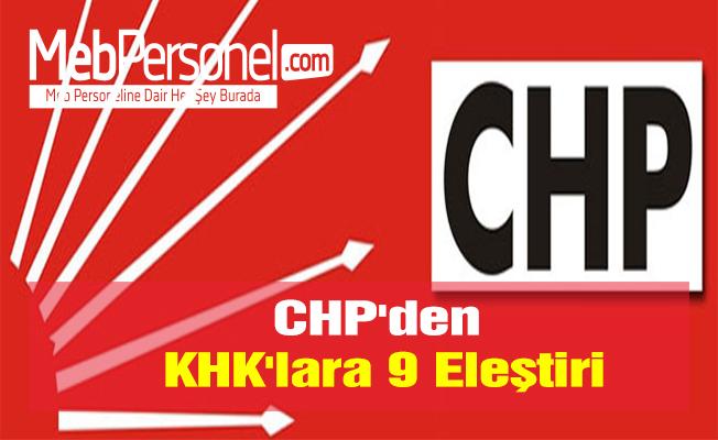 CHP'den KHK'lara 9 Eleştiri