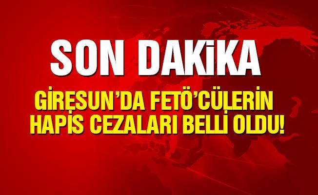 Gümüşhane'de yargılanan 9 FETÖ sanığına hapis cezası