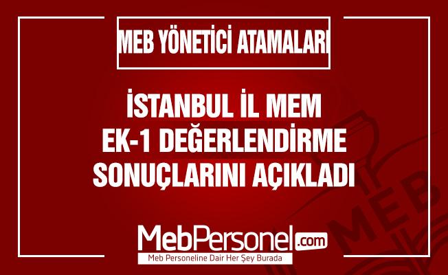 İstanbul Yönetici Atama Ek-1 Değerlendirme Sonuçları Açıklandı