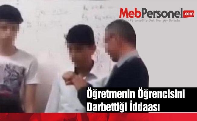 Öğretmenin öğrencisini darbettiği iddiası